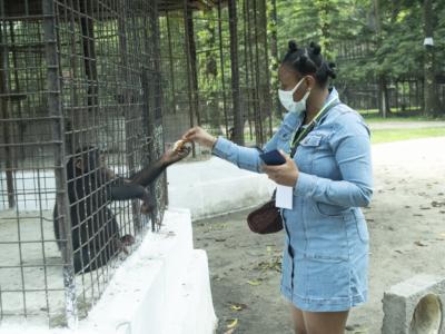 Nourrissage et nettoyage du 27 Février 2021 au Jardin Zoologique de Kinshasa